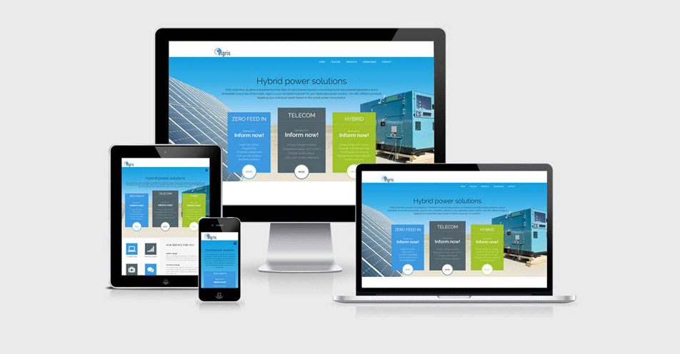 Responsive Webseite Elgris Power